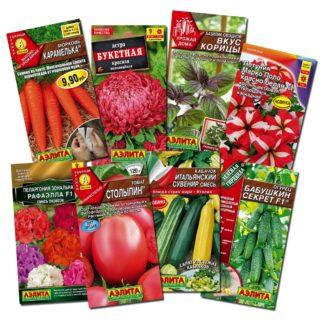 Семена в цветной упаковке